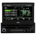 Single Din 7 inch Multimedia Receiver with Built-In Bluetooth, USB and AUX inputs - Jensen VX3010